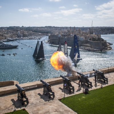 Start of the 33st Rolex Middle Sea Race from the Upper Barrakka Gardens - Group 5 (White)